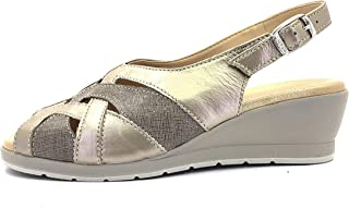 Cinzia Soft Scarpe Donna Sandali con Cinturino IO5418-CC 005 Capretto + CARTIZ Oro/Perla