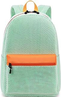El-fmly Fashion Mesh Backpack for Travel Lightweight School Bookbag for Girls and Boys
