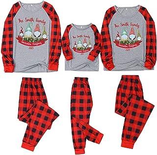 Pijamas De Navidad Familia Conjunto Pantalon y Top Mujer Hombre Niños Niña CamisetasDe Manga Larga Sudadera Chándal Suéter Pijamas de Navidad para la Familia - Rayas Pijamade