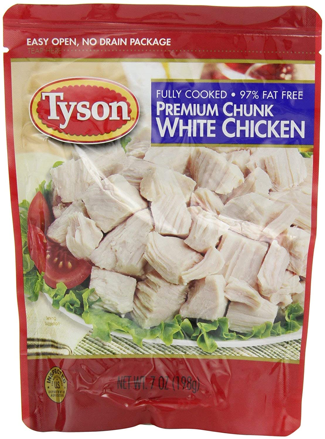 Max 54% Under blast sales OFF Tyson Chunk Chicken Breast 7-Ounce Pouches Pack SET 12 O of -