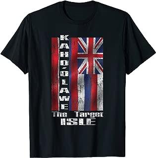 KAHO'OLAWE The target isle - Hawaiian flag design