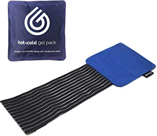 comprar comparacion GelpacksDirect - Bolsa de gel reutilizable para aplicar frío y calor - Con banda de comprensión - Pequeña - 14 x 13 cm
