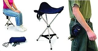 HengLiSam Portable Telescoping Stool Folding Camping Stool Seat Garden Folding Stool for Outdoor Travel Camping Fishing BBQ Blue Max Load 130KG//330lbs