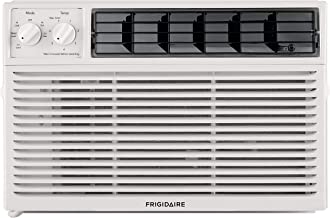 Frigidaire Energy Star 6,000 BTU 115V Window-Mounted Compact Air Conditioner with Mechanical Controls, White