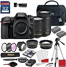 Nikon D7500 DSLR Camera with AF-S 18-140mm VR Lens & 70-300mm ED Lens + Deluxe Accessory Kit (2 Battery Bundle)