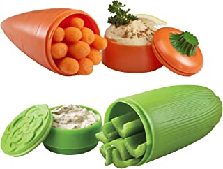 Hutzler Carrot & Dip and Celery & Dip To-Go Snack Container Set