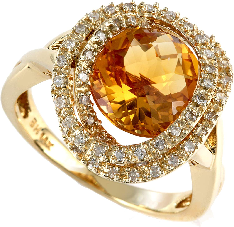 Effy 14K Yellow Gold Citrine & Diamond Ring, 3.6 TCW HR7775DC