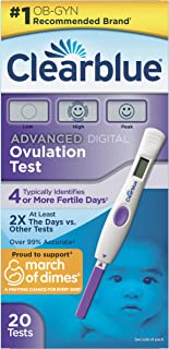Clearblue Advanced Digital Ovulation Predictor KIT, Featuring Advanced Ovulation Tests with Digital Results, 20 Ovulation Tests (Packaging May Vary)