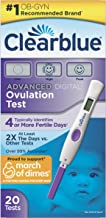 Clearblue Advanced Digital Ovulation Test, Predictor Kit, Featuring Advanced Ovulation Tests with Digital Results, 20 Ovul...