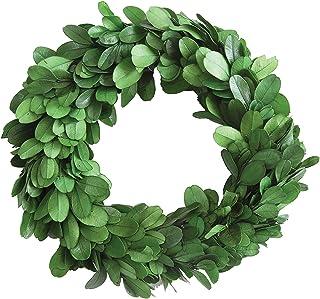 "Creative Co-Op DA5819 Round Boxwood Wreath, 6"", Green"