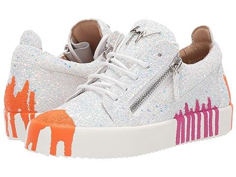 Giuseppe Zanotti Arrie Splash Paint Low Top Sneaker