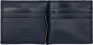 Nuvola Pelle Money Clip Wallet for Men in Genuine Leather with Coin Pocket and Credit Card slots Blue