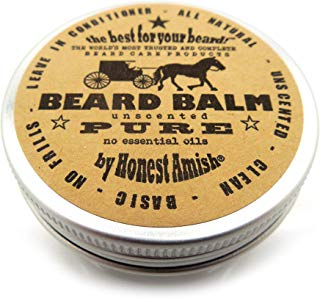 Honest Amish - PURE - Fragrance Free Beard Balm - All Natural - 2 Ounce