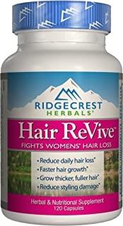 Ridgecrest Herbals Hair ReVive, Hair Growth Support, 120 Capsules