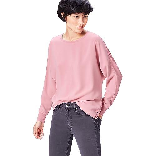 4a97b8b9f7ff2 FIND Women's Sweatshirt in Slouch Cut with Dip Hem