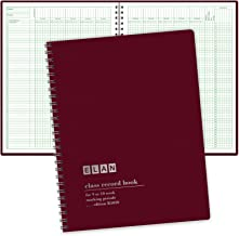 Class Record Book for 9-10 Weeks. 50 Names R1010 (Maroon)