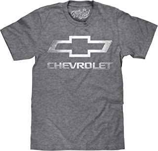Tee Luv Chevrolet Shirt - Licensed Distressed Chevy Bowtie Logo T-Shirt