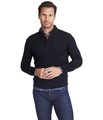 UNTUCKit Merino Wool 1/4 Zip (Black) Men
