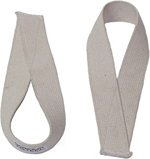 Serious Steel Heavy-Duty Lifting Straps | Choose: Adjustable Weightlifting Straps or Speed Straps in Blue or White | Made in U.S.A | Cotton Weightlifting Straps & Powerlifting Straps | Sold as Pair!
