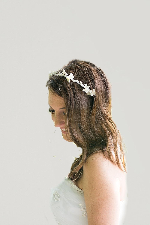 Handmade Simple Bridal Floral Financial sales sale Tiara Minimalist Don't miss the campaign Headband Flower
