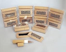 12 قطعة مبخرة مع 20 قطعة عود كمبودي لكل منهما، مقاس 7 سم من جيفت لونج - لون خشبي