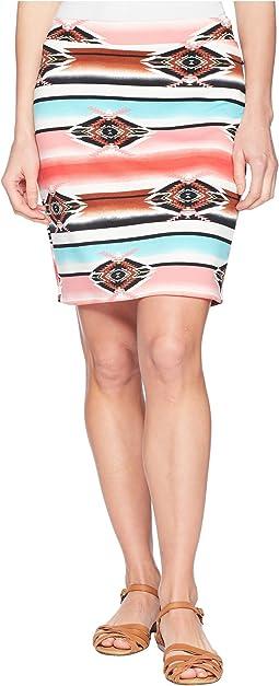 Ponte Pencil Aztec Skirt