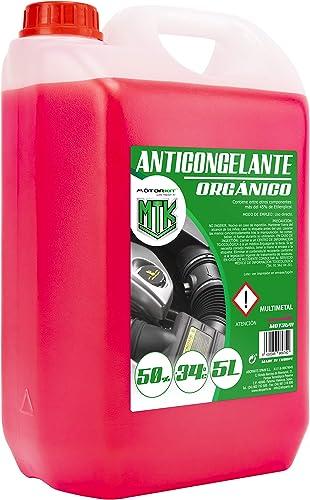 Motorkit MOT3541 Anticongelante Orgánico, Rosa, 5 Litros