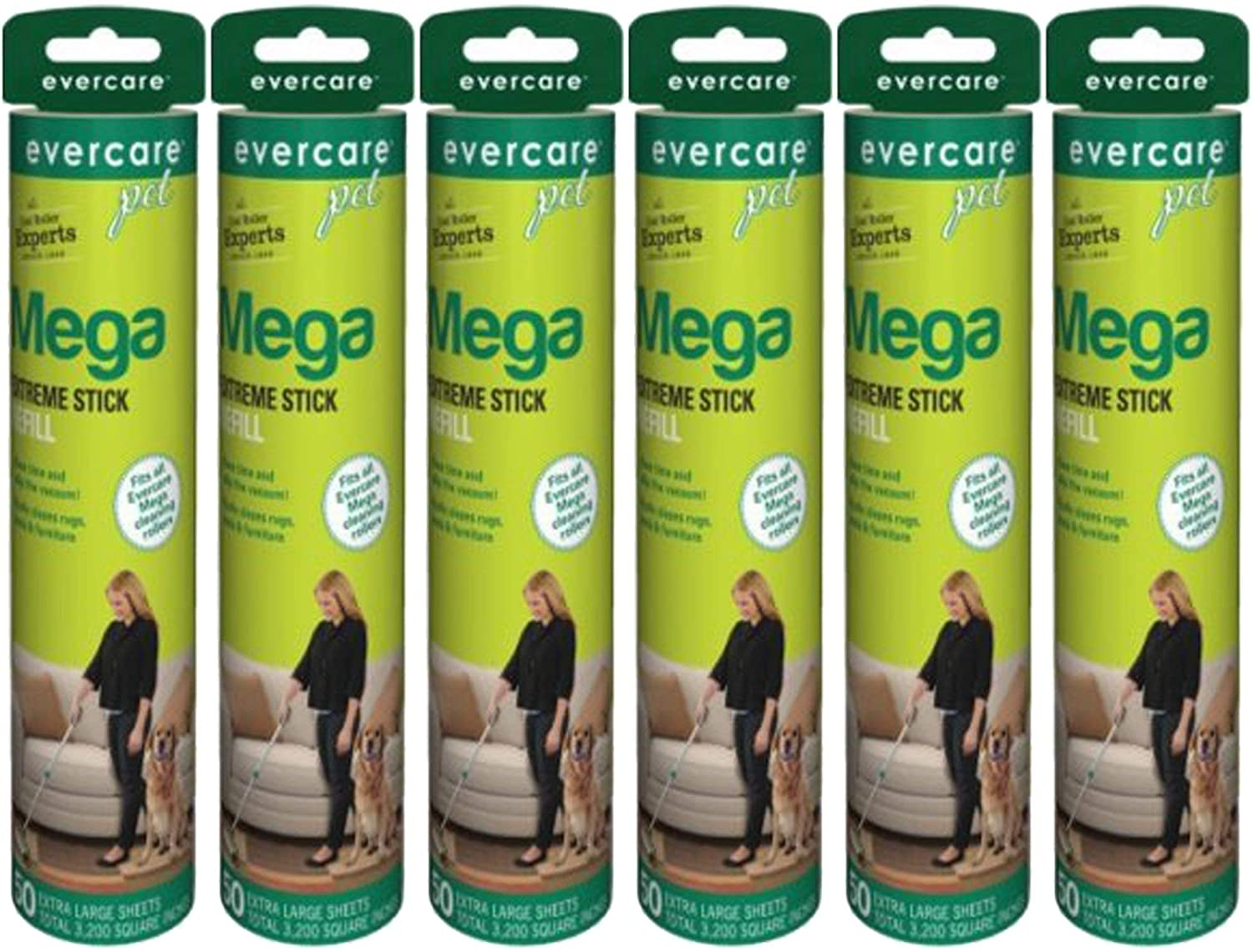 lowest price Evercare Pet Mail order cheap Mega Roller Refill 6-Pack 50-Layer