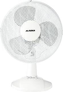 Alaska–Ventilador de mesa DF 3009| Ventilador | 3velocidades | zuschlatbare oszilation | 40W | 34,5cm ventilador de cabeza, Blanco
