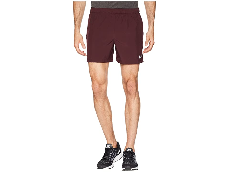 Nike Challenger 5 Running Short (Burgundy Crush/Burgundy Crush/Red Crush) Men