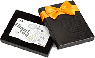 Amazon.com $50 Gift Card in a Black Gift Box (Global Thank You Card Design)