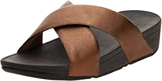 FitFlop LULU CROSS SLIDE SANDALS - LEATHER