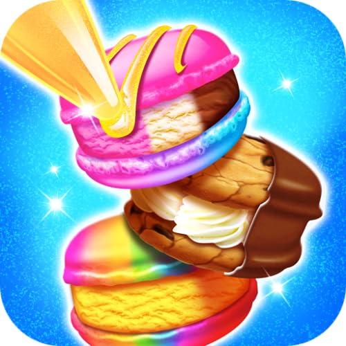 Ice Cream Sandwich Maker - Kids Rainbow Frozen Desserts and Ice Cream Games