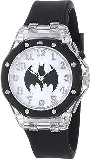 Batman Kids' BAT9015 Batman Flashing Dial Black Strap Watch