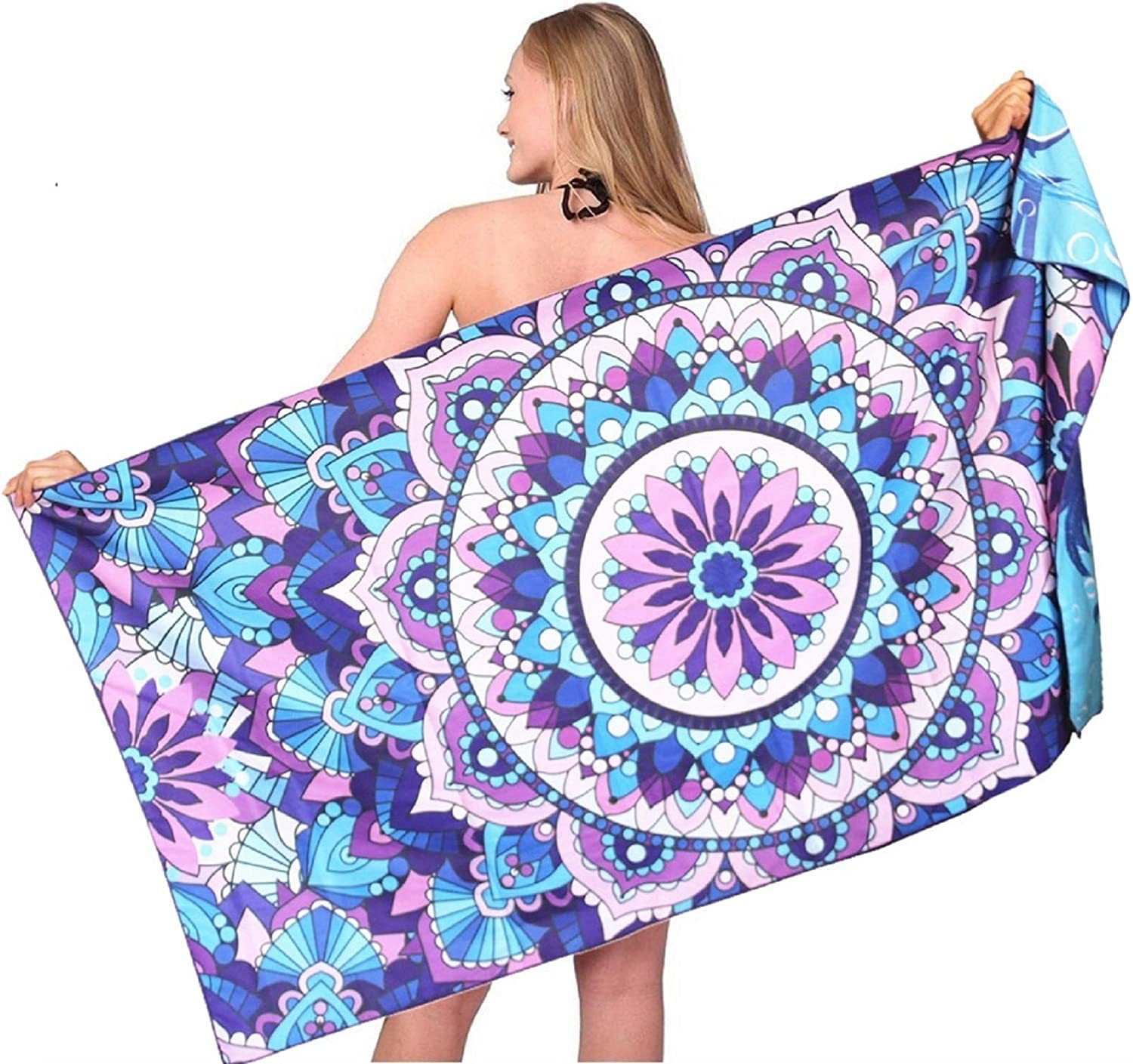 Microfiber Sand Ranking integrated 1st place Free Max 58% OFF Beach Towel-Quick Super Dry Overs Absorbent