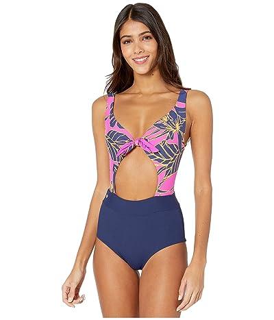 Maaji Blueberry Sherbert Reversible One-Piece Swimsuit (Ink Blue Rib) Women