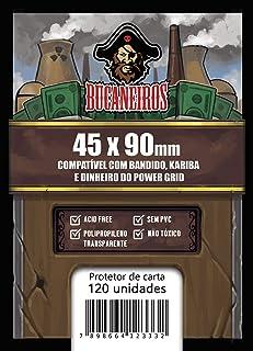 Sleeve Customizado - Bandido / Kariba / Dinheiro do Power Grid / Futuropia, Bucaneiros Jogos, Transparente (45 x 90)