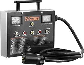 CURT 51498 7-Way RV Blade Brake Controller Tester, 7-Pin Trailer Wiring