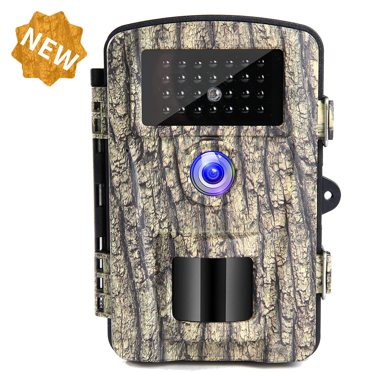 YIDA TECH Trail Camera 12MP 1080P Game Hunting Cameras with No Glow Night Vision Up to 65ft Scouting Cam for Wildlife Monitoring 27Pcs IR LEDs and IP66 Waterproof