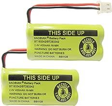 BAOBIAN 2.4V 400mAh Cordless Home Phone Battery for AT&T BT162342 BT-162342 BT166342 BT-166342 BT266342 BT-266342 BT183342 BT-183342 BT283342 BT-283342 VTech CS6329 CS6114 CS6419(Pack of 2)