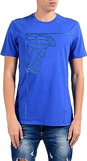 Collection Men's Blue Graphic Crewneck T-Shirt Size US S IT 48