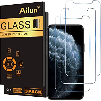 Ailun Compatible for iPhone XS/iPhone X/iPhone 11 Pro Screen Protector,3 Pack,5.8 Inch Display,Tempered Glass 2.5D Edge Work Most Case [NOT for iPhone 11,6.1 inch]