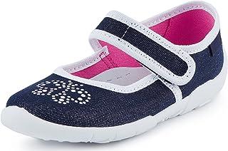Ladeheid Chaussure Fermeture à Scratch Ballerine Fille LAVI0004