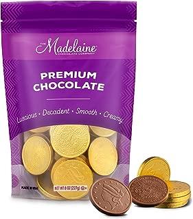 Madelaine Premium Milk Chocolate Gold Coins (Large Coins, 1/2 LB)