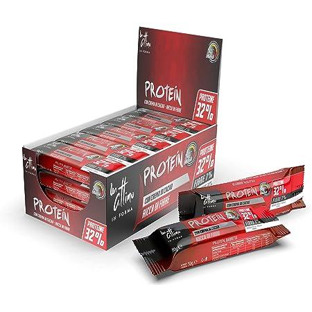 Un-Attimo in Forma, barretta con Crema di Cacao, 32% di proteine, 24x50g, ricca di vitamine e con pochi zuccheri