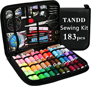 Sewing Kit, Over 183 DIY Premium Sewing Supplies, 38 XL Thread Spools - 20 Most Useful Colors & 18 Multiple Colors, Suitable for DIY/Home/Travel & Emergency, Best Gift for Girls & Sewing Beginners