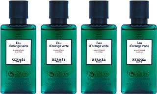 Hermès Eau d'Orange Verte Luxury Shampoo With D-Pantenol Vitamins In Bubble Bag - Set Of 4 X 1.35 Ounce/40 ML Bottles, Total 5.4 Ounce/160 ML from Hermes Paris
