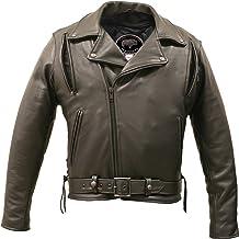 product image for American Bison Vented Biker Jacket (46)