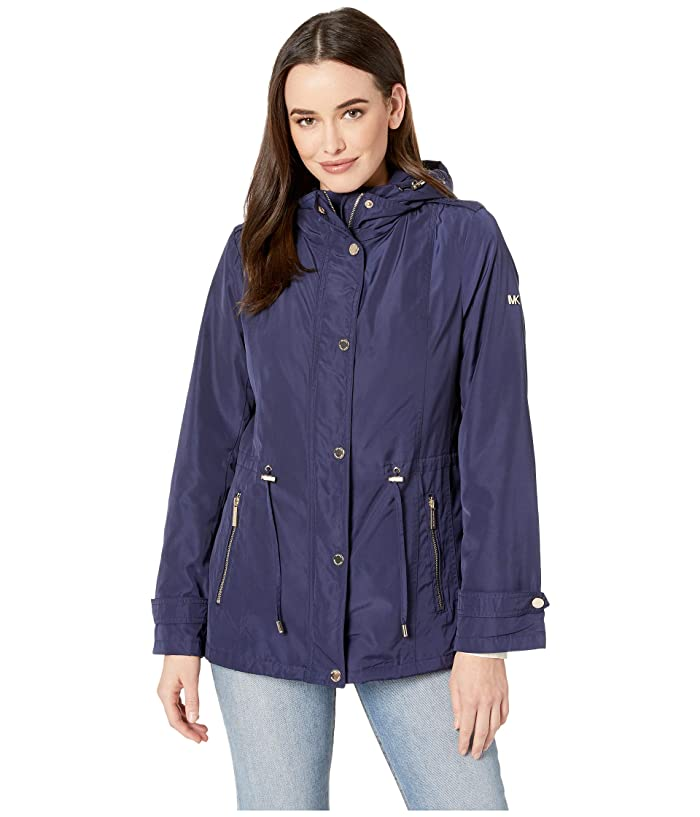 MICHAEL Michael Kors Snap Front Rain Jacket M324064M (True Navy) Women