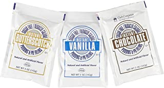 Chef's Companion Assorted Sugar Free Instant Pudding Mix (Vanilla, Chocolate, Butterscotch) - 5 Oz, (Pack of 12)